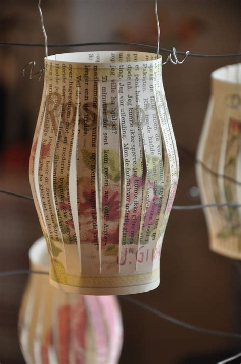 diy old book crafts no 5 rose lanterns wings of whimsy