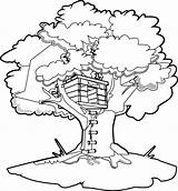 Coloring Tree Magic Printables Architecture Cabane Printable Albero Coloriage Buildings Disegni Treehouse Colouring Worksheets Dark Before Dinosaurs Dinosaur Imprimer Drawing sketch template