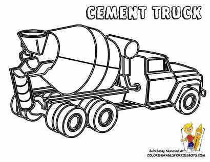 Coloring Construction Pages Fathers Truck Cement Mixer