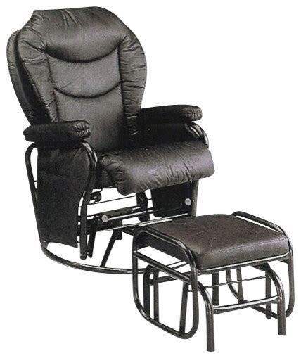 black glider recliner swivel chair and ottoman