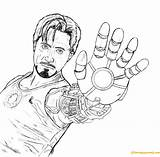 Stark Coloring Tony Avengers Printable Thanos Members Coloringpagesonly sketch template