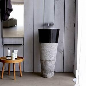 Meuble Vasque Sur Pied : vasque sur pied vente vasque sur pied en marbre koni sur tikamoon ~ Teatrodelosmanantiales.com Idées de Décoration