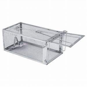 Automatic Locking Rat Mouse Trap Cage Fr Small Live Rodent