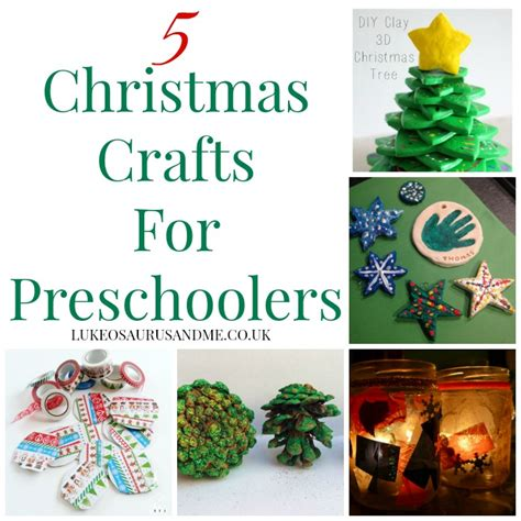 5 christmas crafts for preschoolers lukeosaurus and me