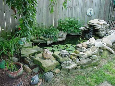 small fish pond  home garden decoration  ideas