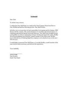 testimonial letter format