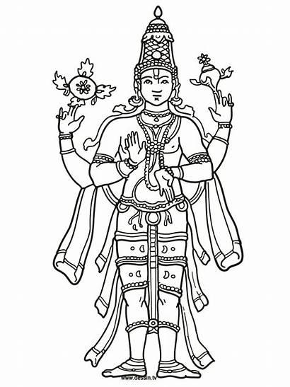 Vishnu Coloring Shiva Pages Hindu Drawing Parvati