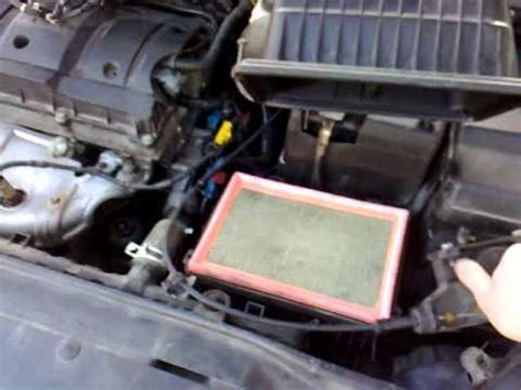 peugeot  air filter sound youtube