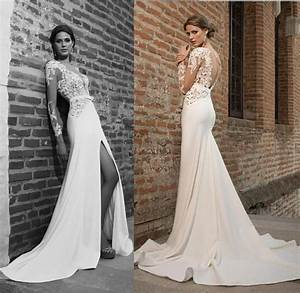 2016 new beautiful bien savvy sexy wedding dresses With deep v neck wedding dress