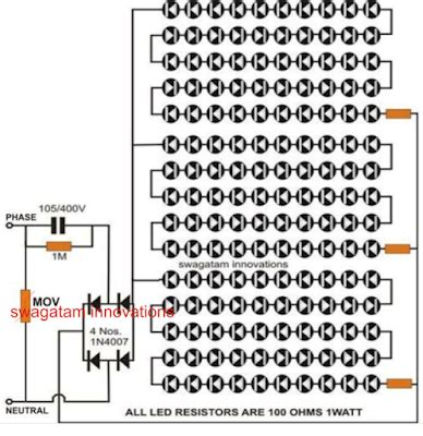Led Circuit Diagram Letter by Simple Led Tubelight Circuit Explained Comprehensively