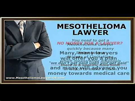 mesothelioma lawyer asbestos lawyer law firms youtube