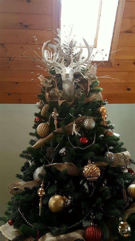 creative christmas  deer head tree topper