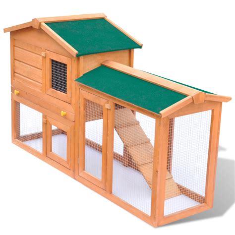 la boutique en ligne grande cage clapier ext 233 rieur en bois pour lapins vidaxl fr