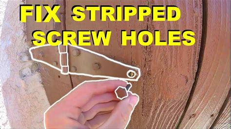 how to fix stripped in wood how to fix stripped wood screw holes in doors hinges anything jonny diy youtube