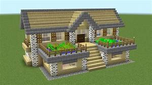 Minecraft - How to build a birch survival house - YouTube