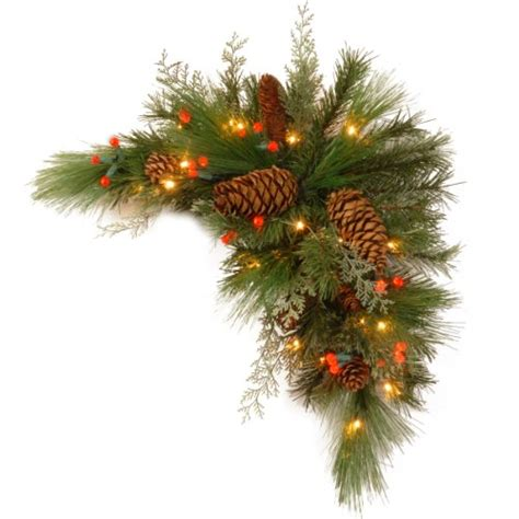 battery operated lighted garland in white click