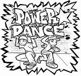 Coloring Dance Hop Hip Pages sketch template