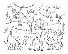 Pictures Of Jungle Animals - AZ Coloring Pages  Jungle Drawing With Animals