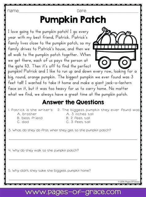 printable worksheets   grade comprehension