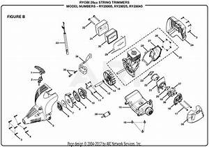 Homelite Ry28005 26cc String Trimmer Parts Diagram For