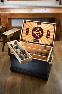 Traveling Tool Chest With a Marquetry Lid