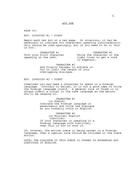 screenplay template  tv shows