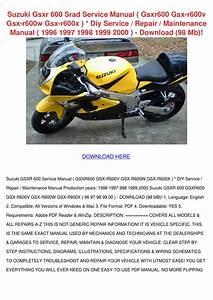 Suzuki Gsxr 600 Srad Service Manual Gsxr600 G By Larita Cory