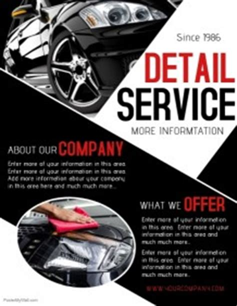 Boat Detailing Flyers by Customize 260 Car Wash Flyer Templates Postermywall
