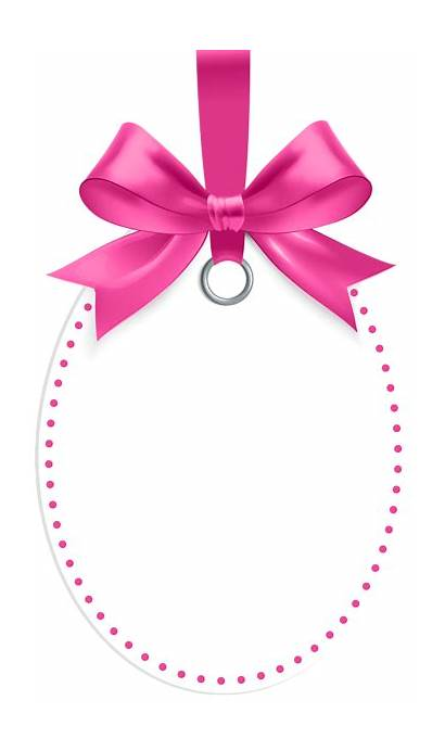 Pink Bow Label Clip Template Clipart Labels