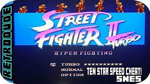 Street Fighter 2 Turbo  Ten Star Speed Cheat   Snes