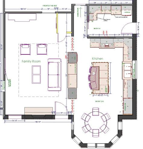 kitchen floor plans kitchen dining area with tons of counter space and a