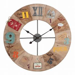 Horloge En Metal : horloge en m tal et bois d 70 cm smith sons maisons du monde ~ Teatrodelosmanantiales.com Idées de Décoration
