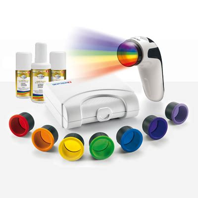 color light therapy zepter bioptron 7 color light therapy set