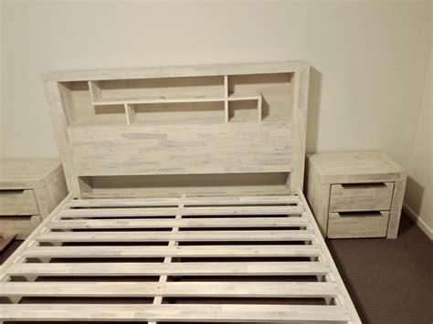 rachel bookcase queen bed frame  storage bayside