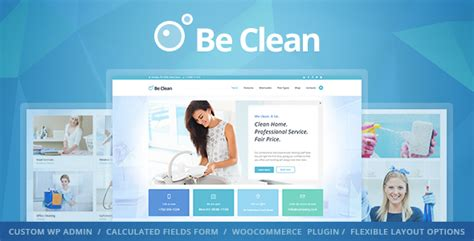 Clean Themes Be Clean Cleaning Company Service Laundry