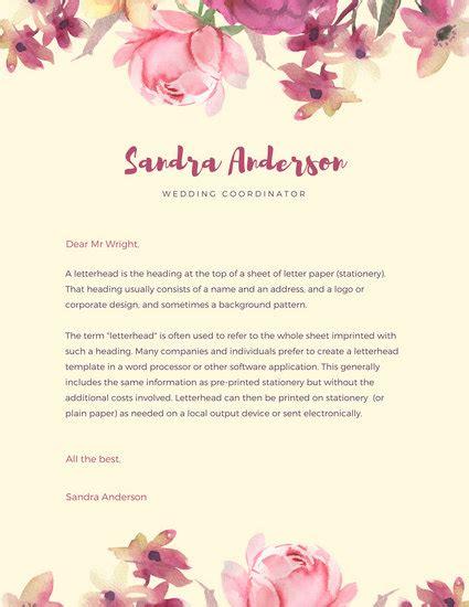 beige watercolor personal letterhead templates  canva