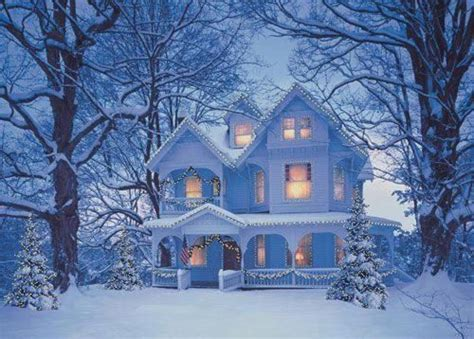 christmas houses in snow winter house pictures photos and images for and