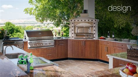 pizza oven luxury outdoor kitchens brown outdoor kitchens