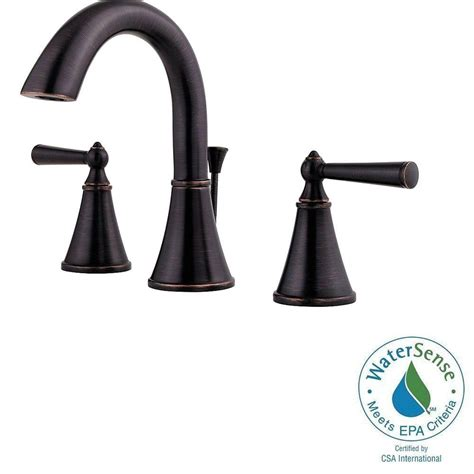 widespread kitchen faucet pfister saxton 8 in widespread 2 handle high arc bathroom faucet in tuscan bronze gt49 gl0y