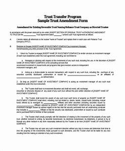 8 trust amendment forms sample templates With sample living trust document