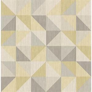 A-Street Puzzle Yellow Geometric Wallpaper Sample-2697