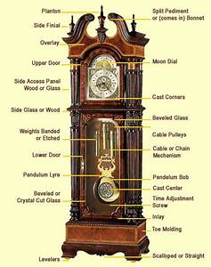 All Key Parts Of Grandfather Clocks Labeled