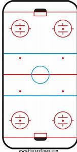 Hockey Rink Printable From  Hockeyshare Com