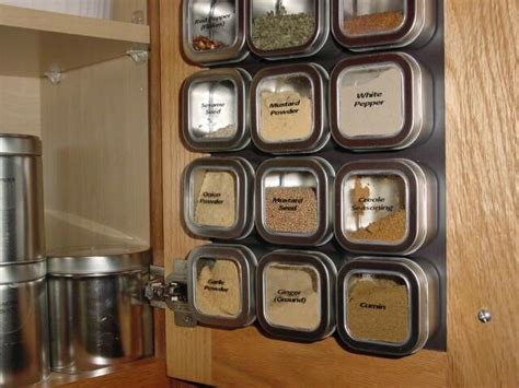 Magnetic Spice Rack India by 4 Oz Bravada Set Of 12 Spice Tins Only Or Add