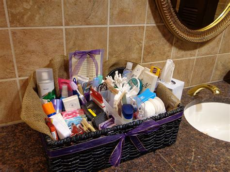 my honey bunch wedding bathroom basket