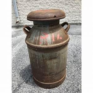 Vintage, Rustic, Metal, 10, Gallon, Milk, Can