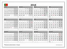 Calendário de de 2018, Portugal Michel Zbinden pt
