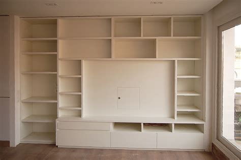mueble comedor en melamina blanca  estantes mb concept