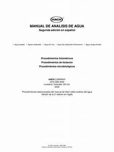 Manual De An U00e1lisis De Agua - Hach Lange