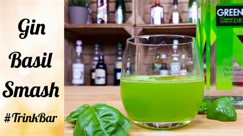 gin basil smash cocktail rezept trinkbar